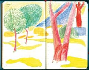 Weiß, rot, gelb, hellgrün sind die Farben des Gartens in der Sonne