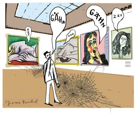 Museumswärter Illustration für die taz