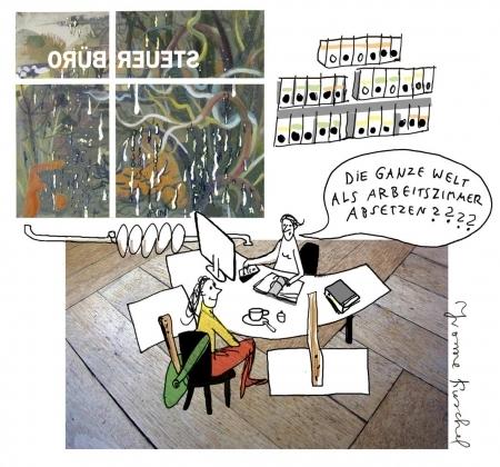 Illustration für taz-Serie arbeit in berlin